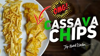 OMG!!! Try this variety recipe  Easy Tapioca Chips at Home  Spicy Cassava Chips Recipe