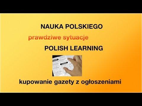 Polski na luzie - nauka polskiego - kupowanie gazety o pracę