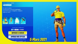 BOUTIQUE FORTNITE du 5 Mars 2021 ! ITEM SHOP March 5 2021 !