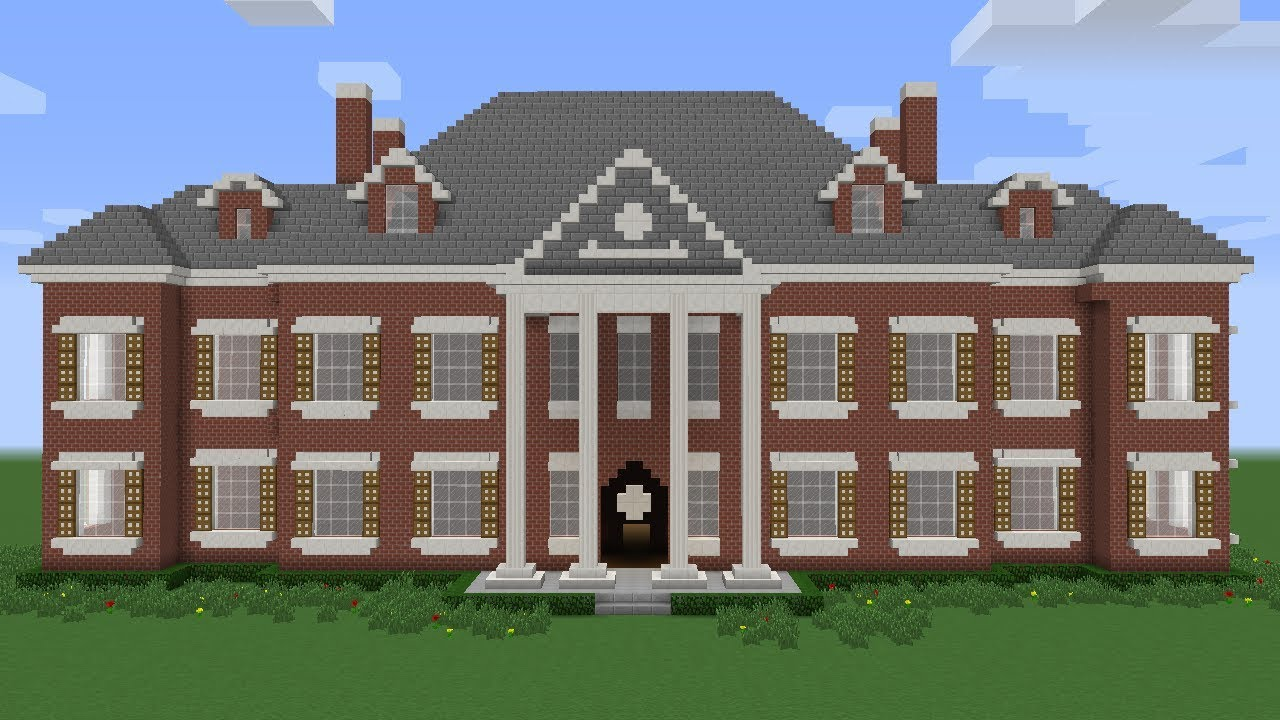 minecraft how to build a mansion tutorial youtube