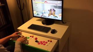 Ikea Micke Desk Fightstick Hack
