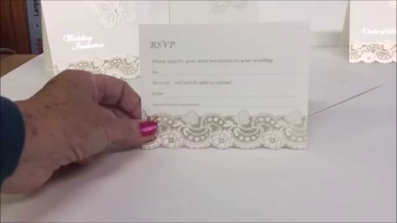 3D Butterfly Design - Laser Cut Wedding Invitations - YouTube