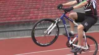 Bicycle Wheelie World Record 24km in one hour