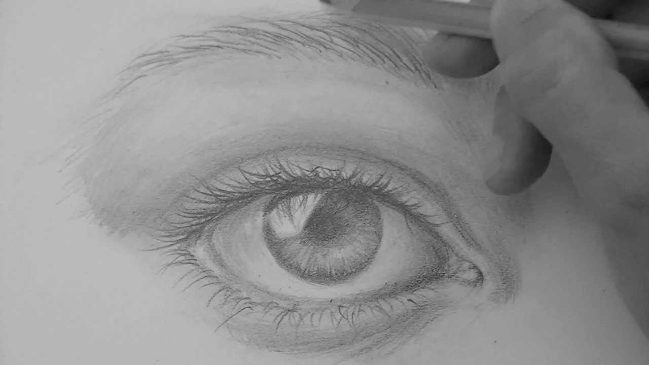 How To Draw A Realistic Eye Eyebrows Step By Step Pencil Shading No
