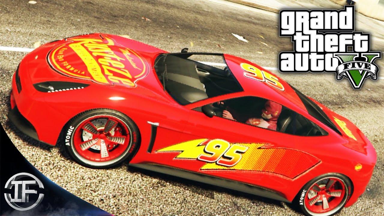 RAYO MCQUEEN EN GTA V - TUNEADO SECRETO GTA 5 - MOD PINTURA OCULTA - Hack Grand Theft Auto V