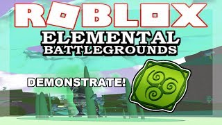 [NEW ELEMENT!] ACID Element Demonstrate! (Showcase!) | Roblox Elemental Battleground