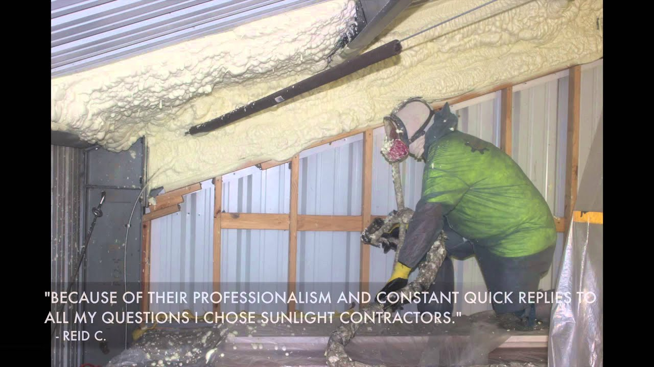 Metal Roof Steel Building   Spray Foam Insulation New Orleans   YouTube