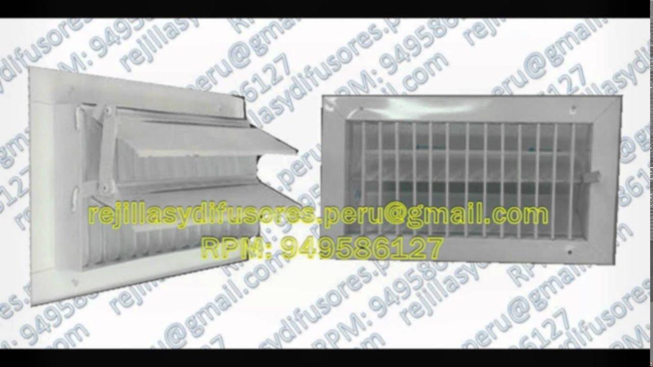 Difusores y rejillas para aire acondicionado youtube for Rejillas aire acondicionado regulables