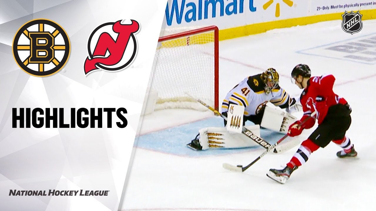 NHL Highlights | Bruins @ Devils 12/31/19