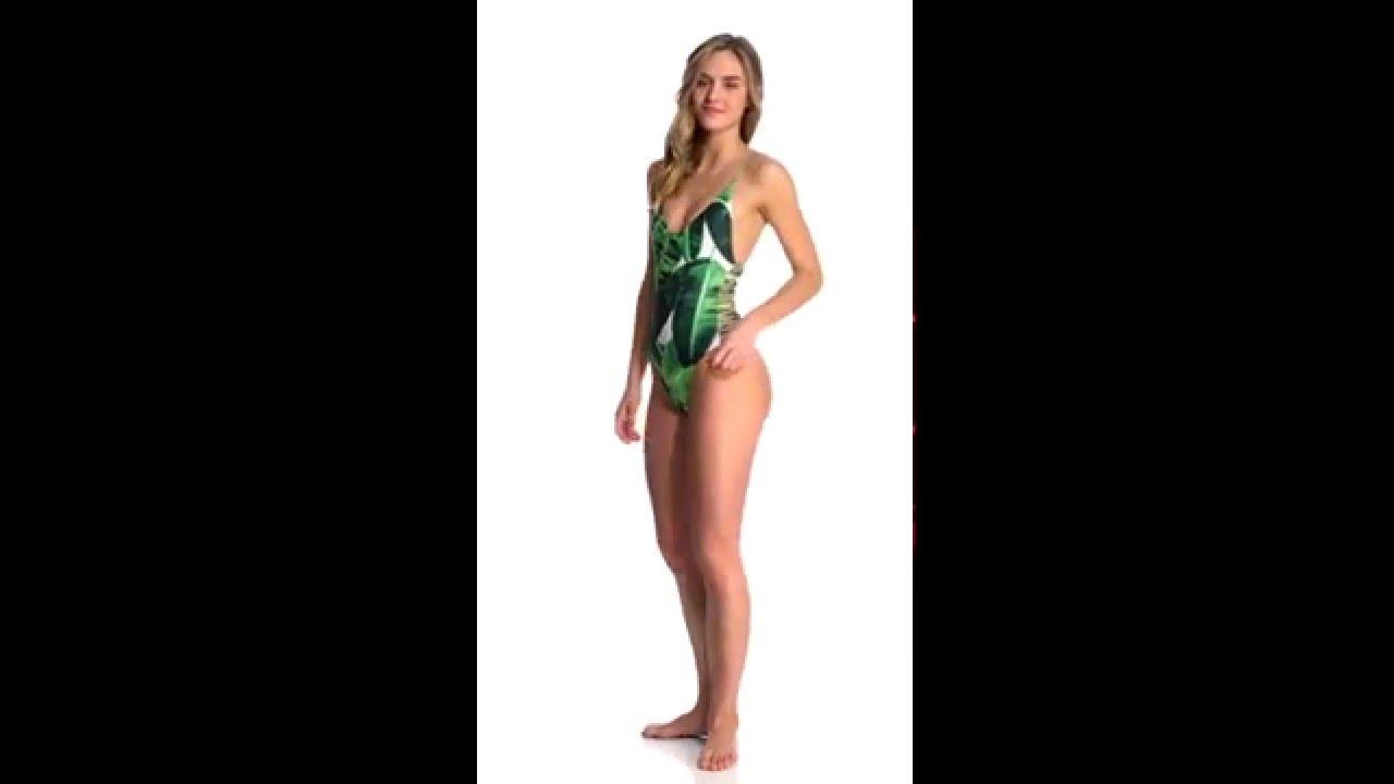 2cec5a97613 Stone Fox Swim Swimwear Banana Leaf Hermosa One Piece Swimsuit |  SwimOutlet.com