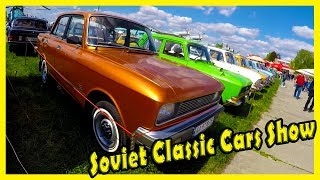 """Soviet Classic Cars Show """"OldCarLand"""" 2018. Most Popular Cars of the Soviet Union Review"""