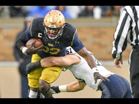 Football Highlights - Notre Dame 24, Navy 17