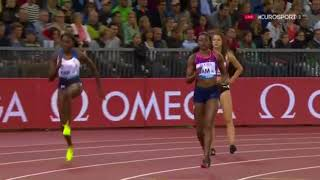 ELAINE THOMPSON RUNS DOWN THE GB 4X100M WOMEN - IAAF Diamond League Zurich 2017 thumbnail
