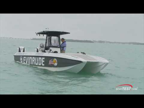 Jaguar J32 (w/ 2 x 250-hp Evinrude E-TEC G2 250 H.O.) (2018-) Test Video - By BoatTEST.com