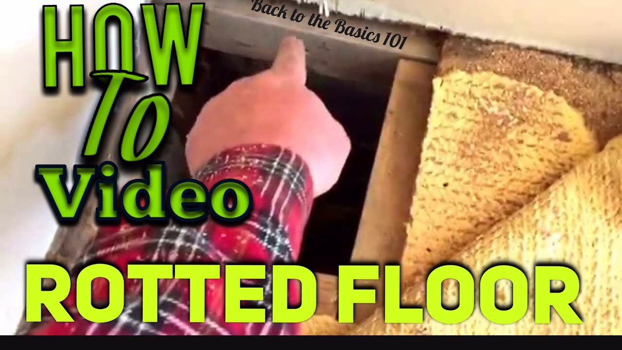 Mobile Home Soft Floor Repair   YouTube Mobile Home Soft Floor Repair