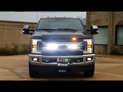 F350 XLT Model Plow Truck Warning Lights - Custom Wicked Warnings LED Warning Lights Package
