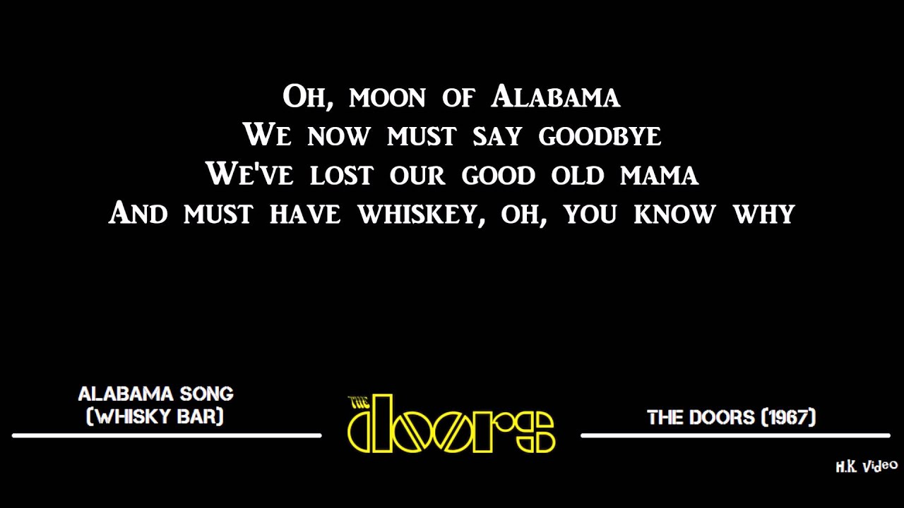 sc 1 st  YouTube & Lyrics for Alabama Song (Whisky Bar) - The Doors - YouTube