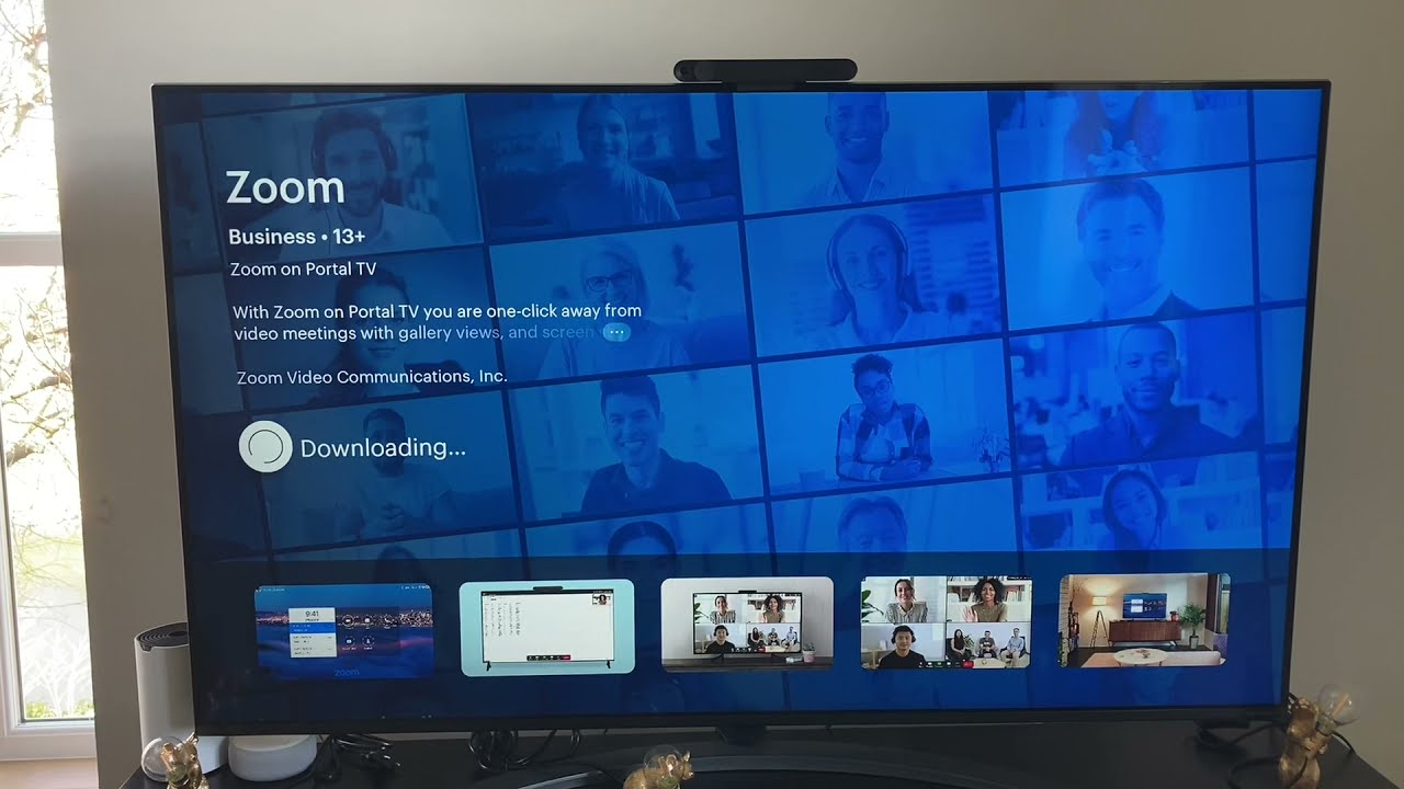 Zoom is now available in Facebook Portal TV