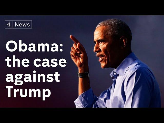 Barack Obama targets Trump presidency in campaign speech\: Watch in full