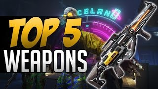 TOP 5 GUNS in Zombies in Spaceland (COD Infinite Warfare Zombies)