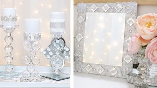 DOLLAR TREE DIY! FLOATING GEM CANDLE HOLDER + VANITY MIRROR! JANUARY 31 2019