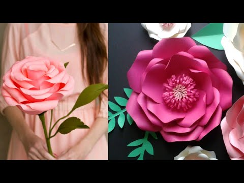 DIY Paper Flowers Wall Art | Room Decor | How To Make ... on Hanging Wall Sconces For Flowers id=51826