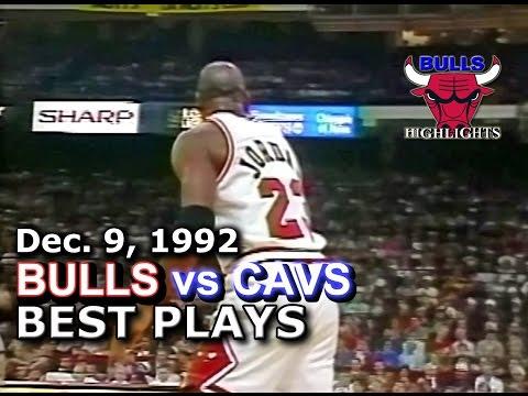 December 09 1992 Bulls vs Cavs highlights
