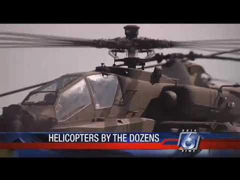 Dozens of Army helicopters land at CCIA