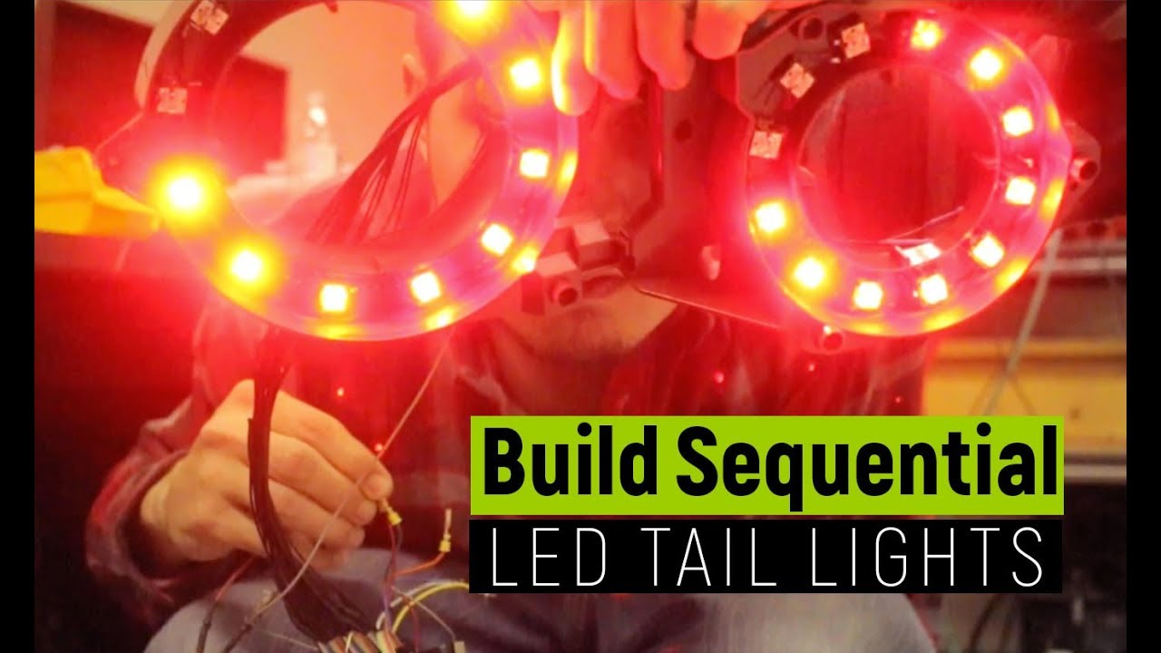 how to build custom sequential led tail lights nissan gtr [ 1280 x 720 Pixel ]