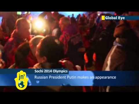 Sochi Olympics: Russian leader Vladimir Putin visits Austria House to cheer medal winners
