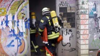Freiwillige Feuerwehr trainiert im Blauen Bock