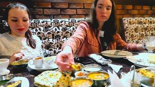 RUSSIAN GIRLS EATING 1ST TIME AMRITSARI KULCHA &  PANI PURI