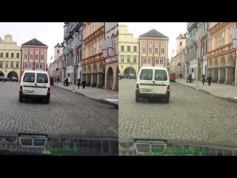 Vehicle recorder Genius DVR-FHD590 vs. Samsung Wave S8500 - rolling shutter effect comparison