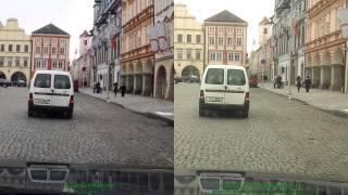 Vehicle recorder Genius DVR-FHD590 vs. Samsung Wave S8500 - rolling shutter effect comparison