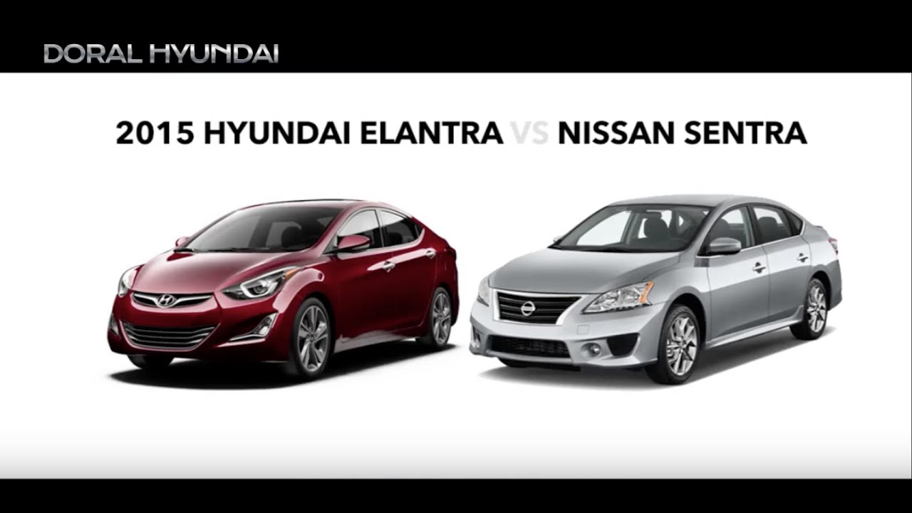 2015 Hyundai Elantra Vs Nissan Sentra Comparison Video