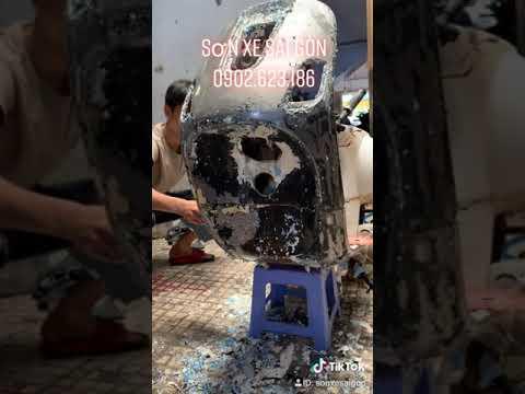 Góc Dọn Xe Vespa LX 125, Tẩy Sạch Sơn Cũ | Sơn Xe Sài Gòn