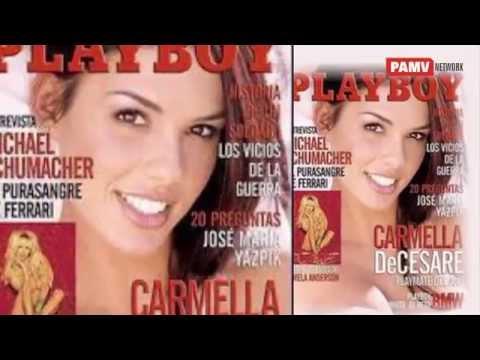 Carmella DeCesare  WWE diva on cover photo of playboy magazine