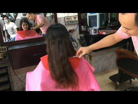 cắt tóc ngắn nữ | Cách cắt ngắn để cho uốn duỗi cúp đẹp kiểu tóc ngắn tầm ngang vai | Tổng hợp những kiểu tóc nữ đẹp mới nhất