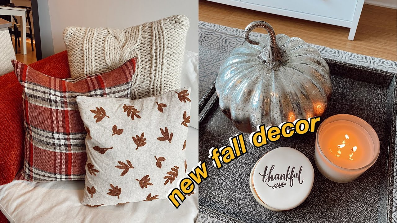 vlog: decorating my apartment for fall | maddie cidlik