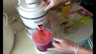 make a pure watermelon juice    jus de pastèque  nước ép dưa hấu