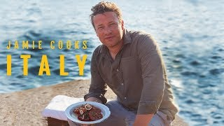 Jamie Cooks Italy | Chargrilled Squid, Chicken Pot Roast, Seafood Stew and Fresh Pasta and Pesto