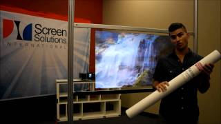 Anti Glare Film Packaging for Rear Projection Films