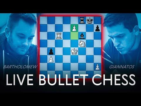 Live Bullet Chess: IM Bartholomew vs. NM Peter Giannatos