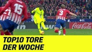 Top10 Tore der Woche: Retter Ousmane Dembele, akrobatischer Luuk de Jong | Highlights | DAZN
