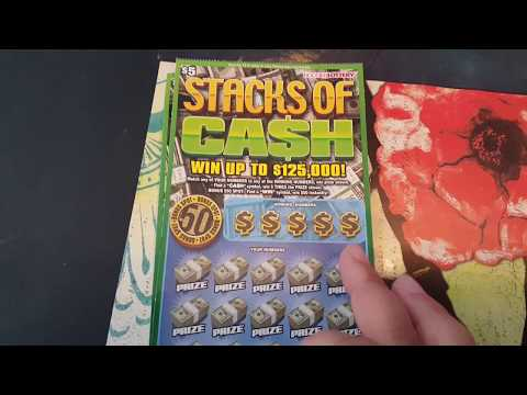 Newly Released - $5 Stacks of Cash Scratch off Tickets Indiana Hoosier Lottery