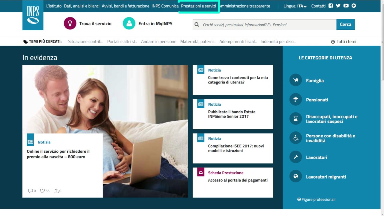 Inps: come registrarsi online - finanzasulweb.it