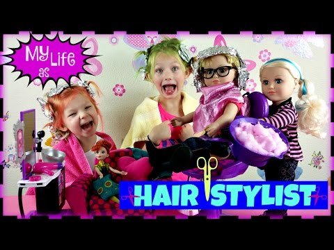 My Life as a Hair Stylist Doll * My Life as a Salon Chair Set & Hair Salon Accesories