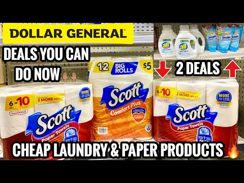 DOLLAR GENERAL | Deals You Can Do Now | Paper Towel Stock Up With New Digital 🧻 & Cheap Laundry! 🙌🏽