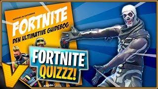 FORTNITE QUIZ! -Fortnite The Ultimate Guidebook * ADVERTISING *