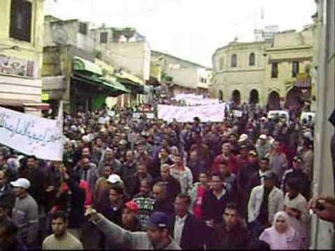manifestation du 24 avril à meknès